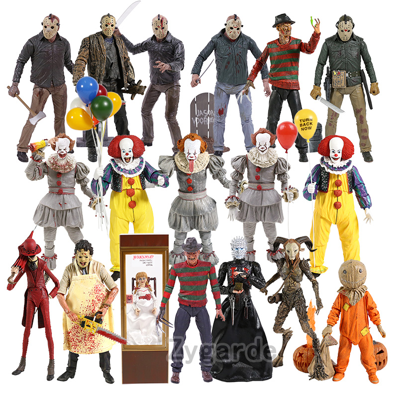NECA It Pennywise Freddy Krueger Jason Voorhees Chucky Michael Myers Texas Chainsaw Massacre Hellraiser Sam Action Figure Toy|Action & Toy Figures| - AliExpress