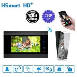 7 inalámbrico WiFi LCD Video Doorphone HD 720P 1200TVL IR IP65 cámara de Metal al aire libre APP Video registro timbre intercomunicador sistema