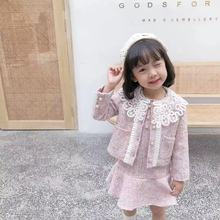 Clothes for Children Girls Set Dresses Party and Wedding Dress Outerwear Coat Jackets