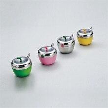 Коробки для специй инструменты для приготовления пищи красочные формы яблока кухонные аксессуары из нержавеющей стали коробка для приправ банка для специй контейнеры для хранения