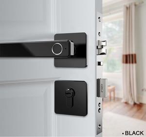 Image 5 - Биометрический Умный Замок с отпечатком пальца, цифровой БЕСКЛЮЧЕВОЙ электронный дверной замок, разблокировка по отпечатку пальца и ключу для домашнего офиса, безопасность