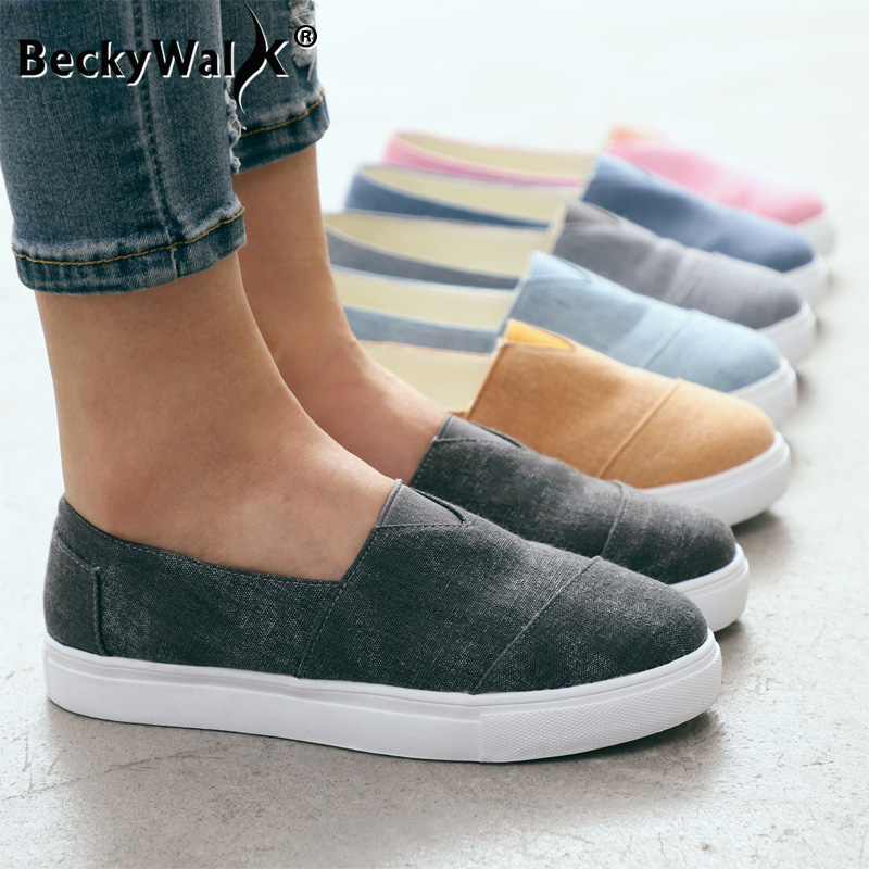 New Casual Loafers Ladies Slip On Flats Women Shoes Woman Casual Spring Autumn Canvas Espadrilles Striped Flat Sneakers WSH3407