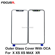 Replacement Outer Glass Lens Cover With OCA Glue Stickers Film For iPhone X XS XR XS MAX Mo