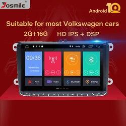 Автомагнитола 9 дюймов IPS DSP Android 10 GPS-навигация для VW Passat B6 touran volkswagen Skoda Octavia 2polo golf 5 6 мультимедийный плеер