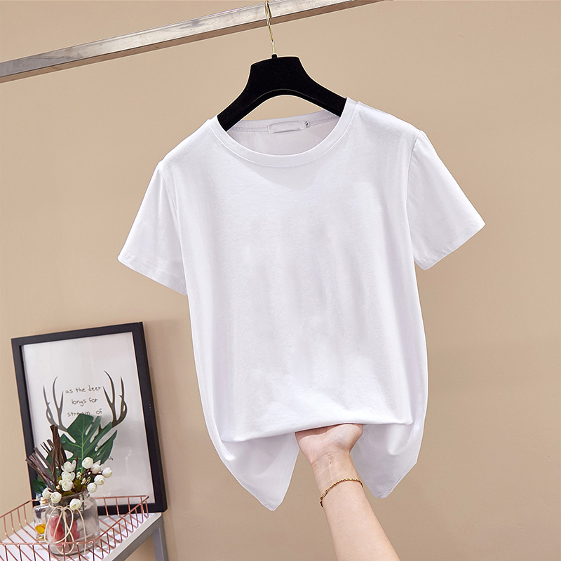 DONAMOL Plus Size Summer Women Clothing Short Sleeve TShirt High Quality 100% Pure Cotton White Tees Casual Loose Pullover Tops