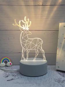 Led-Lamp Night-Lights Home-Decorative-Light 3d Illusion Sololandor 3d Novelty Creative