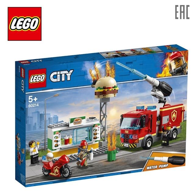 Конструктор LEGO City Fire 60214 Пожар в бургер-кафе