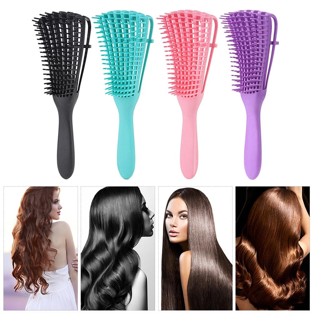 Щетка для волос, массажная расческа для кожи головы, щетка для снятия волос, щетка для влажной и вьющейся кожи, уход за здоровьем, расческа дл...