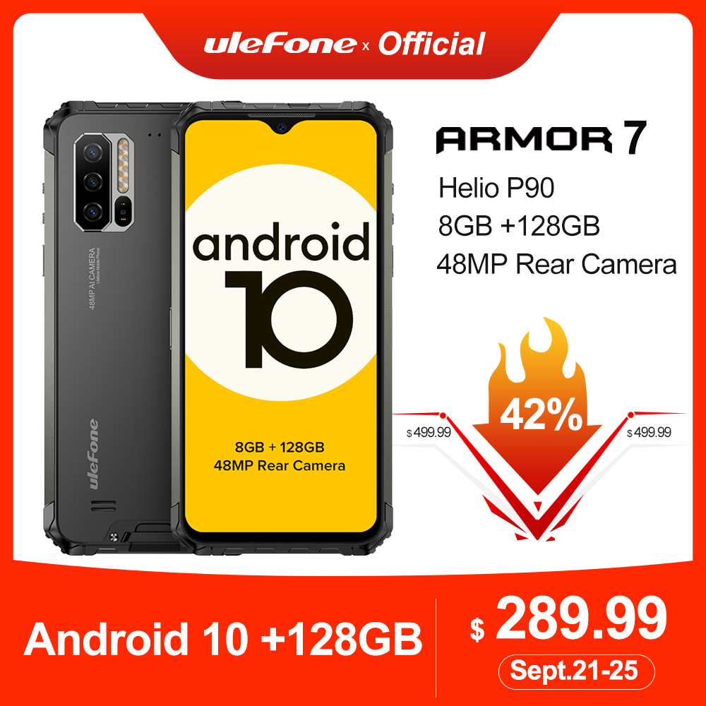 Ulefone Helio P90 Armor-7 Android 128GB WCDMA/GSM/LTE/.. Nfc Adaptive Fast Charge Wireless Charging