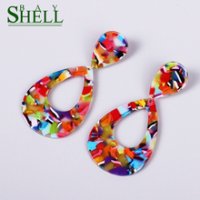 Shell Bay new Acrylic Earrings For Women Bohemian Earrings Fashion Statement ZA Resin Pendientes Brincos Female gift Jewelry