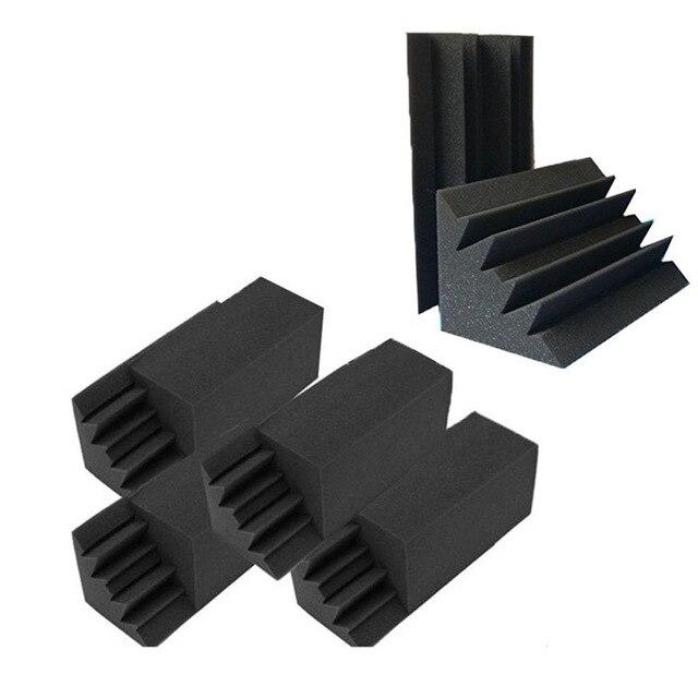 Mousse acoustique noire insonorisante, nouveau paquet de 8, 4.6 pouces X 4.6 pouces X 9.5 pouces, isolation sonore, piège à basses, rembourrage mural, carreaux de mousse de Studio, 8 pièces