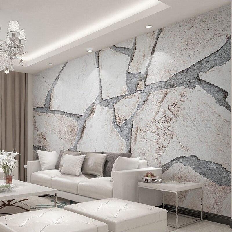 Papel pintado personalizado 3D textura de mármol foto pared Mural TV sofá Fondo papel de pared arte creativo moderno decoración del hogar 3 D