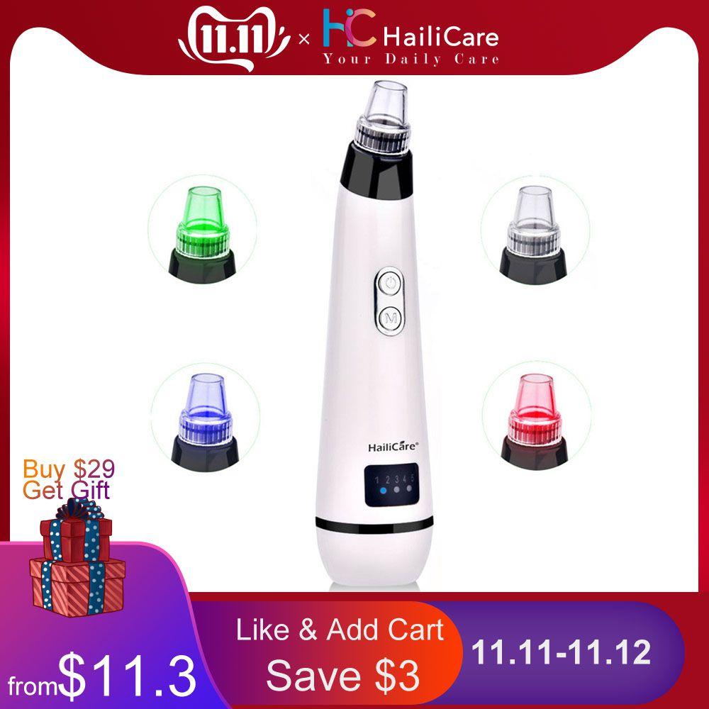 Blackhead Vacuum Suction Pore Vacuum Cleaner Facial Blackhead Acne Removal Tools 3 Colors Light Photon Rejuvenation Skin Care