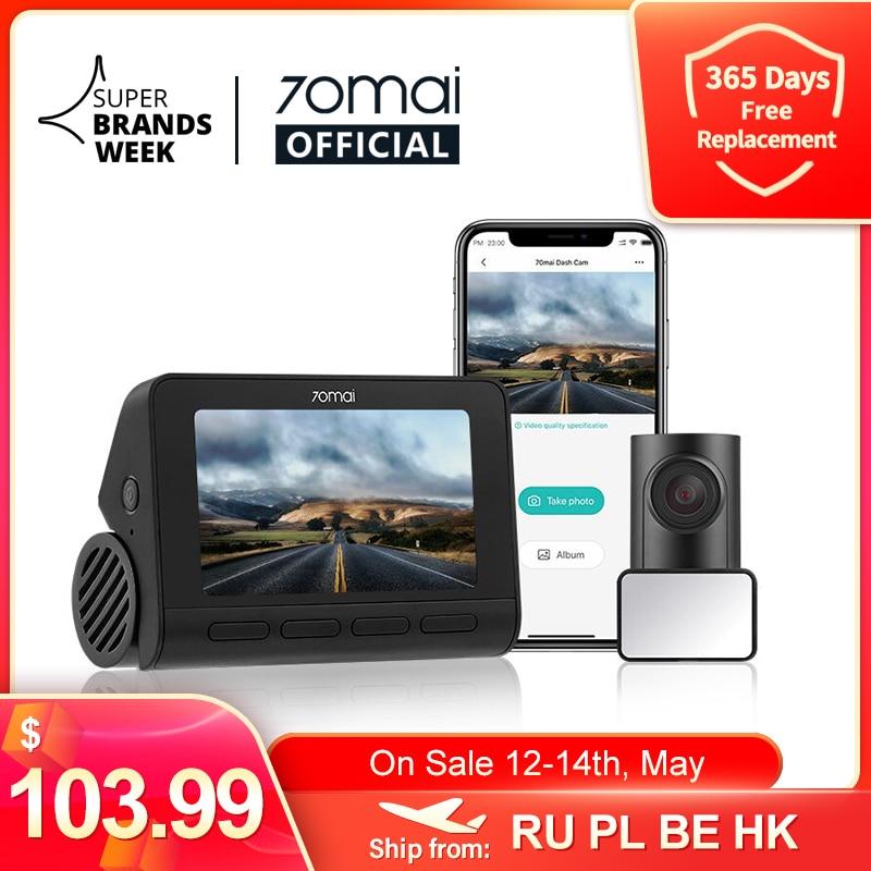 Видеорегистратор 70mai A800S, камера для приборной панели, 4K, с GPS, ADAS, 24 часовым мониторингом парковки, поле зрения 140