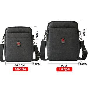 Image 5 - Soperwillton Mens Bag Shoulder Crossbody Bags Oxford Water resistent Travel Belt Bags Men Zipper Bag Male #10452