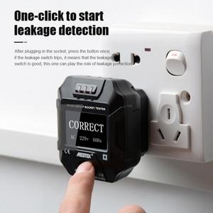 Image 4 - Testeur de prise écran LCD tension Test prise détecteur royaume uni prise ue terre zéro ligne prise prise murale disjoncteur trouveur RCD Test MESTEK