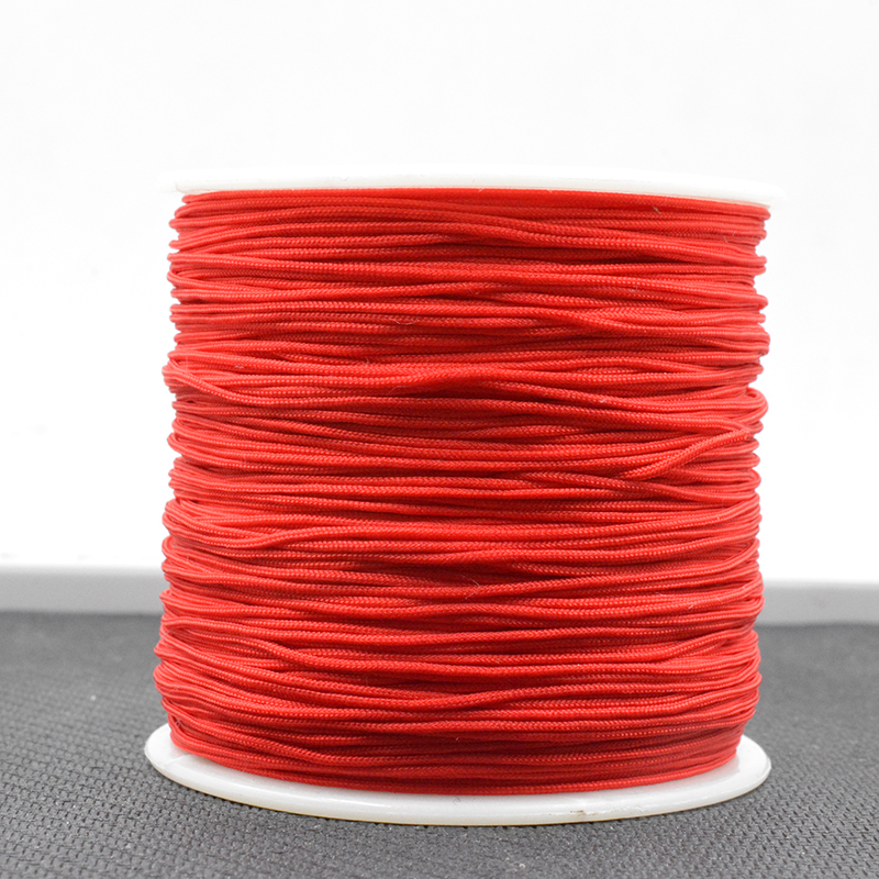 Red 1 Roll 0.8M Chinese Knot Macrame String Wire Cord Thread For DIY Necklace Bracelet Braided String B001