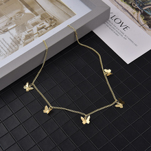 Bohemian Cute Butterfly Choker Necklace For Women Gold Silver Color Clavicle Chain 2020 Fashion Female Chocker Jewelry A30 chic butterfly choker necklace for women gold silver chain statement collar female chocker best shining jewelry party 2020 new