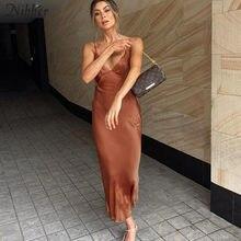 Nibber – longue robe à bretelles pour femmes, élégante, Sexy, col en V, taille au dos, soirée Clubslim, sirène, confortable