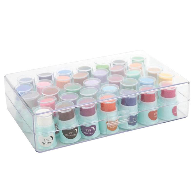 35-Color DIY Finger Overprint Pad, Hand Account Finger Overprint Pad, Rubber Stamp Cloth Art, Finger Painting Ink Pad