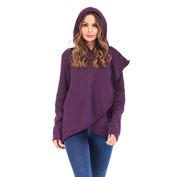 Women Hoodies Sweatshirts Autumn Winter Long Sleeve Pocket Pullover Hoodie 33