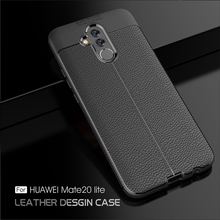 For Huawei Mate 20 Pro X Case Silicone Luxury Shockproof PU Leather Soft Litchi Pattern TPU Cover 10 Lite 9