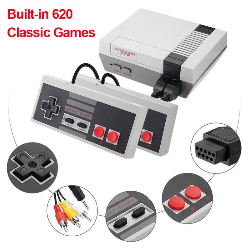 620 игр встроенный мини ТВ портативная игровая консоль 8 бит Ретро Классический игровой плеер AV выход видео двойной геймпад игровая консоль