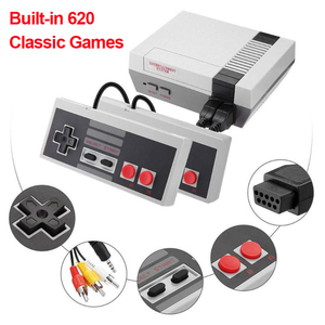 620 Games Built-In Mini TV Handheld Game Console 8 Bit Retro Classic Gaming Player AV Output Video Dual Gamepad Game Console