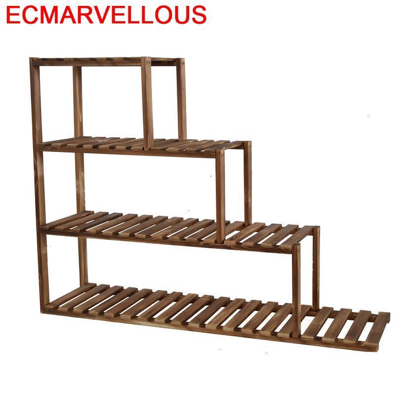 Estante Para Plantas Wooden Shelves For Indoor Pot Ladder Rack Dekoration Stojak Na Kwiaty Balcony Flower Shelf Plant Stand