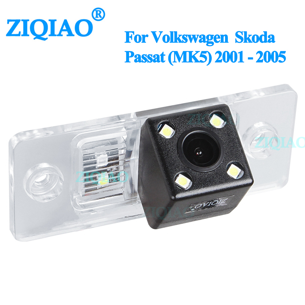 ZIQIAO for Volkswagen Skoda Passat MK5 2001 2005 Night Vision Reversing Parking Monitor Dedicated Rear View Camera HS022|Vehicle Camera| |  - title=