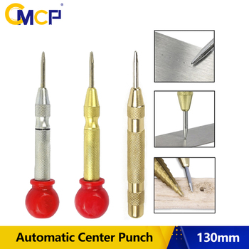 1PC 130mm HSS Automatic Center Punch Center Pin Punch Spring Loaded Marking Starting Hole Centering Tool Center Punch Automatic horusdy super strong automatic centre punch and general automatic center punch adjustable spring loaded metal drill tool 2pcs