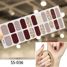 22Tips/sheet Finger Nail  Sticker Full Cover Waterproof Non-toxic Foot Tablets DIY Art Tool Accessories Manicure