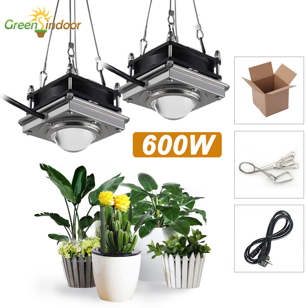 600W COB LED Grow Light Full Spectrum Led Bulb Fitolampy For Plant Growth Phyto Lamp Grow Tent Indoor Plants Flowers Growing Box
