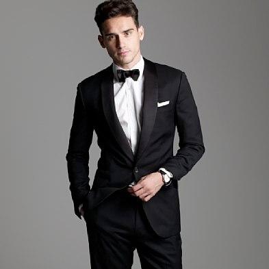 Costumes sur mesure pour le mariage smoking marié porter 2019 costume noir hommes