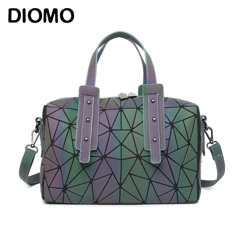 DIOMO New Arrival Luminous Geometric Women's Handbags Pillow Shoulder Bag Boston Handbag Crossbody Bag For Women O