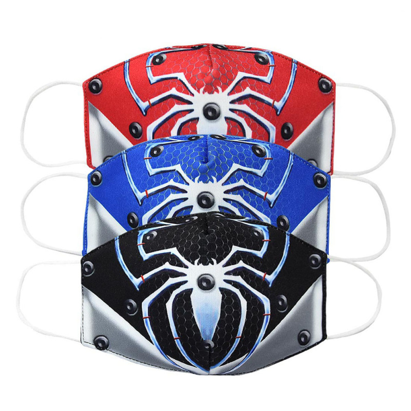 2020 Cartoon Spiderman Mouth Face Mask Kids Adult Washable Breathable Cotton Anti Dust Protection K-POP Masks ZXT231