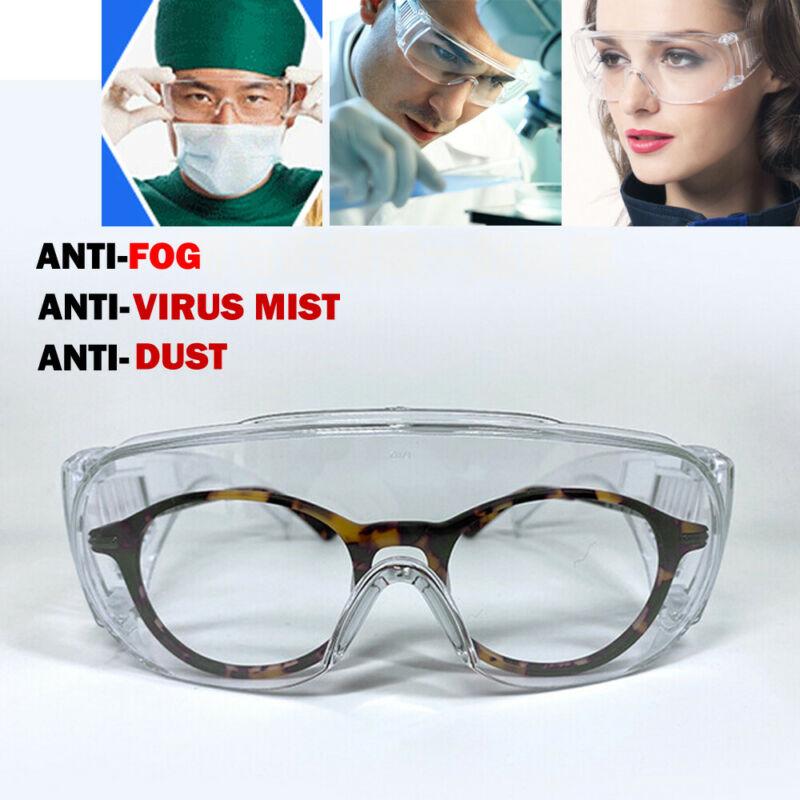 Transparent Safety Goggles Anti Fog Shock Dust Resistant Splash-proof Glasses Work Eye Protection Medical Glasses