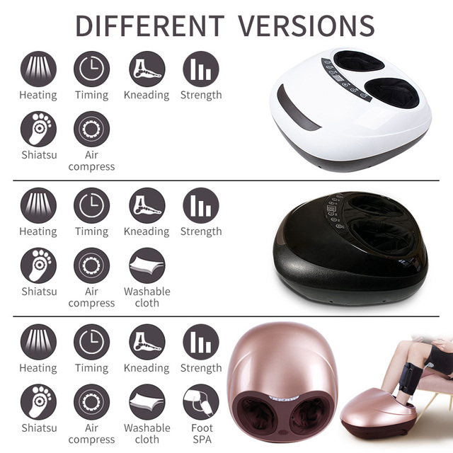 JinKaiRui Electric Vibrator Foot Massager Health Care Massage Infrared Heating Therapy Shiatsu Kneading Air Pressure Machine 2