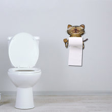 Cat Paper Towel Holder Vintage Cast Iron Toilet Paper Decorative Shelves Towel Holder Standing for Bathroom Kitchen Living Room(China)