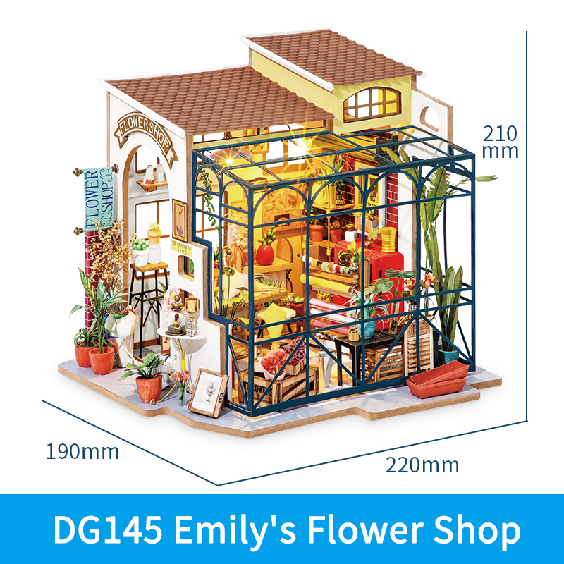 Robotime Rolife DIY Wooden Miniature Dollhouse with Furniture For Gift 5