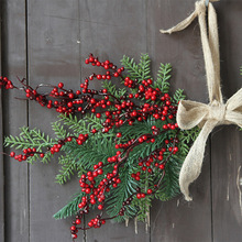Christmas Decoration Artificial Flowers Hanging Berry Wreath Fall Wreath Front Door Decor Wreath Fall Home Holiday Event Decor цена