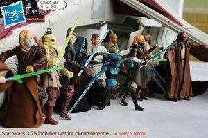 Hasbro starwars Barriss Offee Lando Calrissian Chewbacca R2-D2 anime action & spielzeug figuren modell spielzeug für kinder 11CM