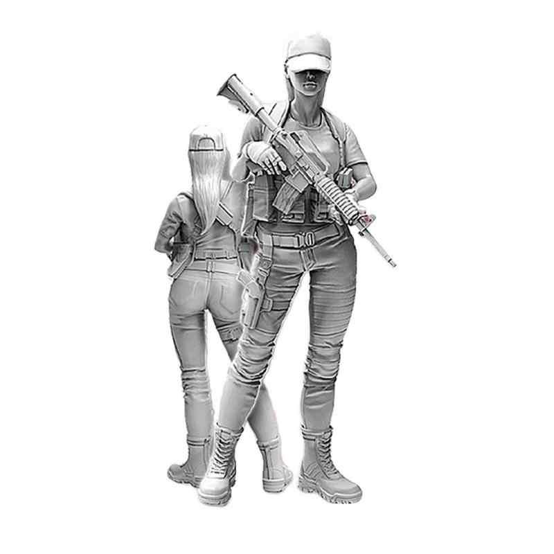 1//35 Standing Beautiful Girl Serie Resin Soldier Model E9U3