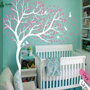 Image 3 - Wall Decal Vinyl Sticker White Tree Large Tree Wall Decor Desgin Color Wall Mural Nursery Kid Room Bedroom Playroom PosterWW 340