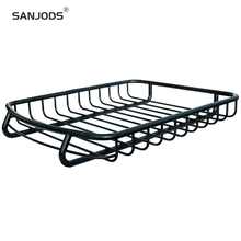 SANJODS Roof Rack Box Heavy Duty Mounted Cargo Basket L51in X W40in Autobox Top Luggage Carrier With Wind Fairing
