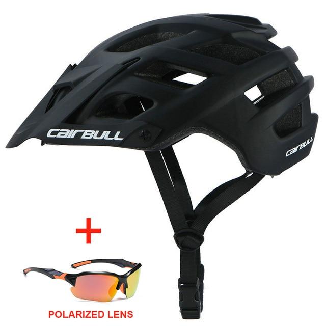 Capacete de bicicleta com óculos de sol integralmente-moldado estrada da bicicleta mtb capacete das mulheres dos homens esportes ao ar livre equitação ciclismo capacete 4
