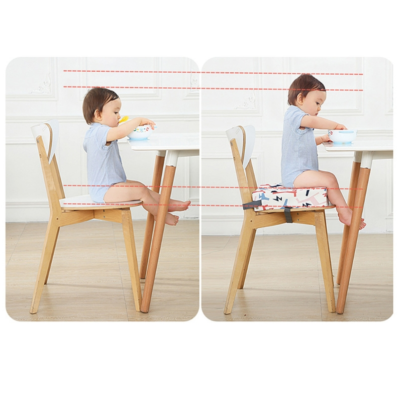 2021 New Child Increased Chair Pad Baby Dining Seat Cushion Removable Highchair Booster