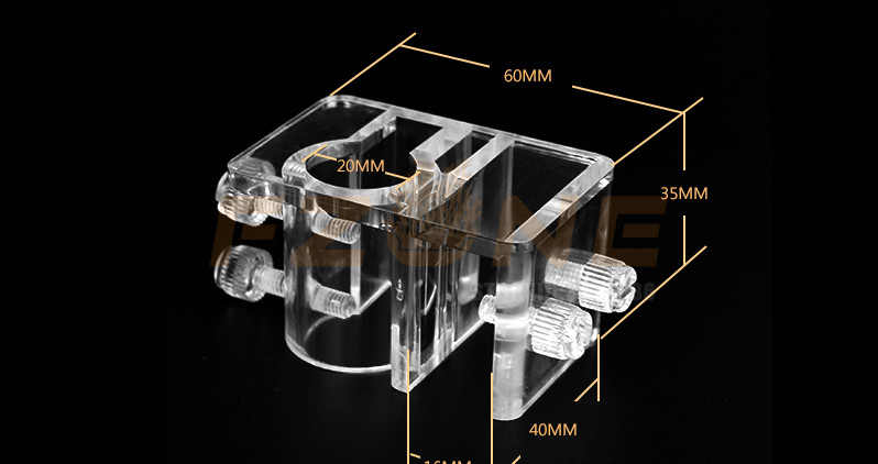AquaSky Style 2mm szkło bezbarwne Lily Poppy Speaker filtry akwariowe akcesoria do rury odpływowej