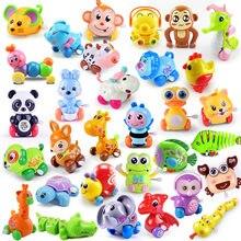 1 pezzi bambino divertente giocattoli per bambini primavera orologio giocattolo Mini tirare indietro salto rana/cane/leone avvolgere giocattoli per bambini ragazzi