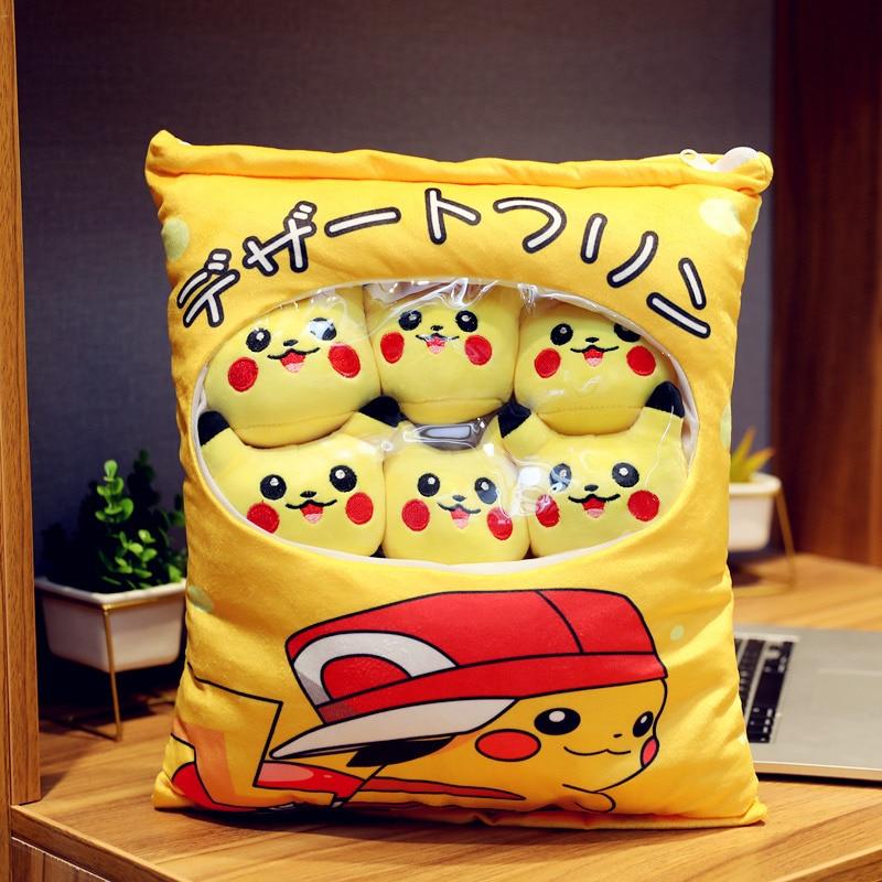 Bag Of Pikachu Totoro Plush Avocado Sumikko Gurashi Anime Carrot Doll Creative Cushion Pillow Present Valentine's Day Gift